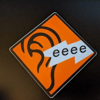 Tinnitus Sticker